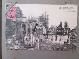 LOUVAIN Belgique Lot De 3 Cartes Ruines De La Boucherie,, Rue De Diest, église St Pierre  Timbrée 1922 - Belgium