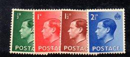 Y363 - GRAN BRETAGNA 1936 , Edoardo VII Serie N. 205/208 *  Mint - 1902-1951 (Re)