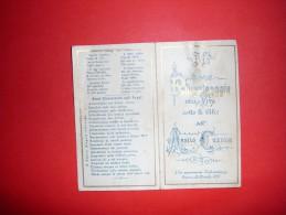 Foglietto Con Preghiere Del 1885, E Libricino Novena Alla SS. Vergine Di Pompei Con Santino. - Religion & Esotericism