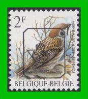 BUZIN - PRE 818** Moineau Friquet / Ringmus - H3 (groene Gom Verte) - Sobreimpresos 1986-..(Aves)