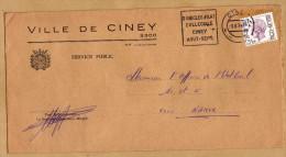 Enveloppe Brief Cover Ville De Ciney - Bélgica