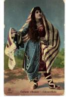 COSTUME ALBANESE 1917 - CANZONETTISTA - VERIFICATO PER CENSURA - ZONA DI GUERRA 307°BATTAGLIONE - VG  1917 FP - C362 - Albanien