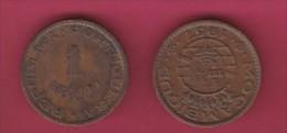 MOZAMBIQUE, 1957, 1 Escudo VF, KM 82, C2839 - Mozambique