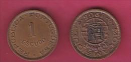 MOZAMBIQUE, 1965, 1 Escudo VF, KM 82, C2842 - Mozambique