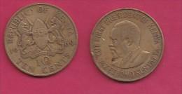 KENYA, 1969,  10 Cents, XF, KM 11,  C2855 - Kenia