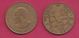 KENYA, 1970,  10 Cents, XF, KM 11,  C2856 - Kenia