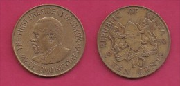 KENYA, 1970,  10 Cents, XF, KM 11,  C2856 - Kenya
