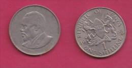 KENYA, 1968,  1 Shilling, VF, KM 5,  C2861 - Kenya