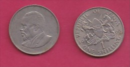 KENYA, 1968,  1 Shilling, VF, KM 5,  C2861 - Kenia