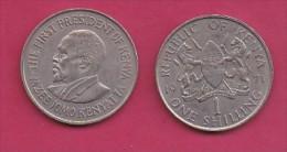 KENYA, 1971,  1 Shilling, VF, KM 14,  C2863 - Kenia