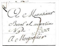 Marque Linéaire 62  Ambert - 32 Mm X 10 Mm , 24 Mai 1810 Sur LSC  - Lot7205 - Marcophilie (Lettres)