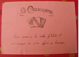 Buvard Le Calligraphe. Vers 1950 - C