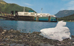 "Alaska Marine Highway Fleet Ferry Ship ""M.V. TAKU"" , At Petersburg , Alaska , 50-60s - United States"