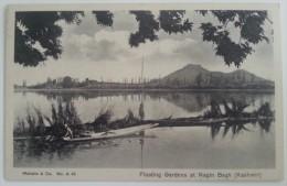 CPA Floating Gardens At Nagin Bagh (Kashmir) - Inde