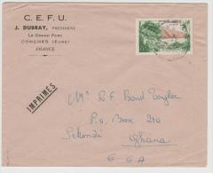 FS655/  FRANKREICH - Drucksache Nach Ghana 1998 - Lettres & Documents