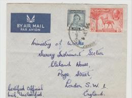 Mes010/  IRAK -  Behördenbrief Nach London (Official Mail)  1955 - Irak
