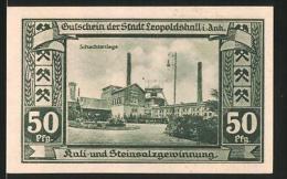 Billet De Nécessité Leopoldshall, 1921, 50 Pfennig, Armoiries, Schachtanlage - [11] Emissioni Locali