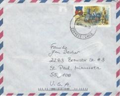 Chile 1996 Temuco Steam Train Cover - Chili