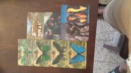 Liberia-(4butter Fly),(1dinozour),(1monkey),(1pingvin),(1dog)-(set 8 Cards)-used+5card Prepiad Free - Liberia