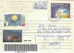 Kazakhstan 1994 Karaganda Space Barcoded Registered Cover - Kazachstan