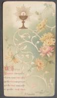 IMAGE PIEUSE BOUASSE N°85 (chromo Vers 1910): L´EUCHARISTIE, Calice & Fleurs De Chysanthème/ HOLY CARD / SANTINO - Images Religieuses