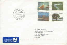 Brasil Brazil 1996 Itajuipe Self Adhesive Tree River Sailing Boat Rock Tourism Cover - Brieven En Documenten