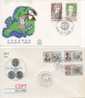 086 EUROPA 1980 Année Complète En 39 FDC Y Compris Feuillet Monaco + Portugal TTB. Michel = 113 € - Europa-CEPT