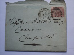 GB 1880 ENTIRE WITH SOUTH KENSINGTON DUPLEX AND CHEPSTOW RECEIVING MARK - 1840-1901 (Victoria)