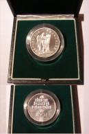 PIEDFORT 100 FRANCS 1989 DROITS DE L'HOMME ARGENT RARE FDC. BOITE D'ORIGINE. - France