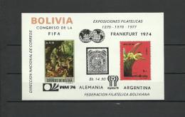 BOLIVIA  Soccer Football  World Cup 1974/1978  SS - Coppa Del Mondo