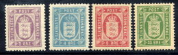DENMARK 1875-79 Official Set Of 4 Perforated 14:13½ MNH / **.  Michel  Dienst  4YA-7YA - Officials