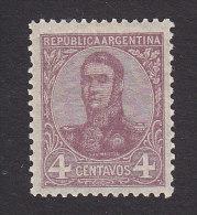 Argentina, Scott #148, Mint Hinged, San Martin, Issued 1908 - Unused Stamps