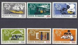 Romania 1974 Centenary UPU U.P.U. Universal Postal Union Transport Organizations Train Ship Car Stamps MNH SC#2486-2491 - UPU (Universal Postal Union)