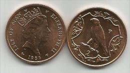 Isle Of Man 2 Pence 1985. UNC Bird Oiseau - Isle Of Man