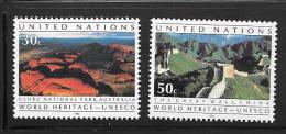 OA 6933 / ONU NEW YORK 1992 Yvert 605 à 606 ** - Hommage Aux Efforts De L´UNESCO - Non Classificati