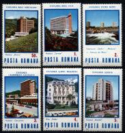Romania 1986 Tourist Hotels Holidays Tourism Architecture Geography Places Building Stamps MNH SC 3373-3378 - Hotels, Restaurants & Cafés