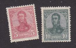 Argentina, Scott #149,151, Mint Hinged, San Martin, Issued 1908 - Nuovi