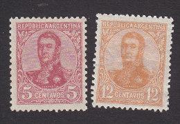 Argentina, Scott #149,152, Mint Hinged, San Martin, Issued 1908 - Nuovi
