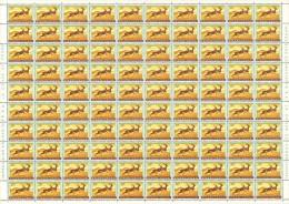 Ruanda 0208** 50c Impala -  Feuille / Sheet De 100 - MNH - Feuilles Complètes