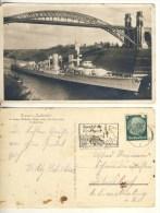 AK Kreuzer Karlsruhe Im Kaiser-Wilhelm-Kanal Echt Gel. 1. 9.1933 S/w (324-AK211) - Ausrüstung
