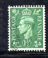 Y389 - GRAN BRETAGNA 1950 , Giorgio VI N. 252r  Usata . Filigrana Rovesciata - 1902-1951 (Kings)