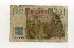 -  FRANCE 1946/51 . 50F LE VERRIER . - 1871-1952 Antiguos Francos Circulantes En El XX Siglo
