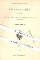 Original Patent - Joseph Estner U. Louis Bucher In Arbon , Schweiz , 1879 , Straßenläufer , Roller , Rollschuhe , Sport - Documents Historiques