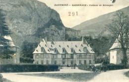Sassenage - Chateau De Béranger - Attelage De Vaches - Tampon Service De Santé Militaire - Sassenage