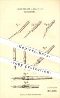 Original Patent - Ernst Fischer , Halle A. D. Saale , 1880 , Schreibfederhalter , Federhalter , Schreiben , Schreibfeder - Schreibgerät