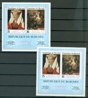 Burundi 217a EXPO 67 International Exhibition Paintings Souvenir Sheet Perf & Imnperforate MNH 1967 A04s - Burundi