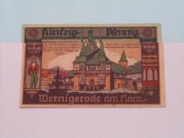50 Pfennig WERNIGERODE Anno 1920 ( For Grade, Please See Photo ) ! - [11] Emissions Locales
