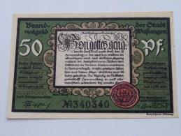 50 Pfennig WAFUNGEN Anno 1921 ( 4 Stuck ) ( For Grade, Please See Photo ) ! - [11] Emissions Locales