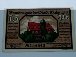 75 Pfennig WAFUNGEN Anno 1921 ( 2 Stuck ) ( For Grade, Please See Photo ) ! - [11] Emisiones Locales