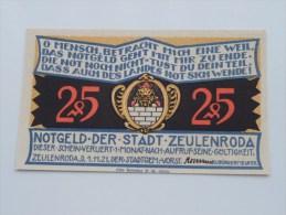 25 Pfennig Stadt ZEULENRODA Anno 1921 ( 4 Stuck ) ( For Grade, Please See Photo ) ! - [11] Emisiones Locales